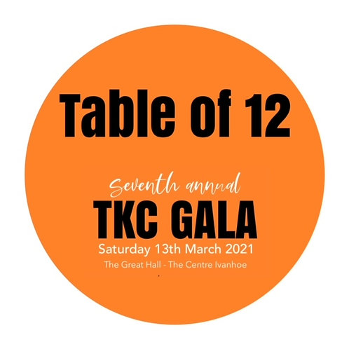 2021 TKC GALA TABLE OF 12