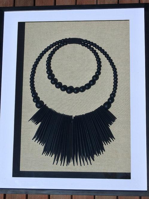 Art Black Tribal Neckpiece