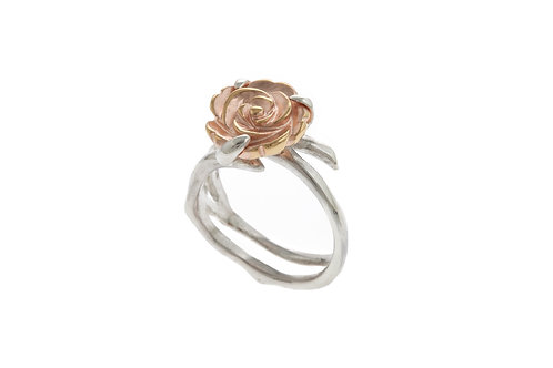Yunnan Rose Gold Plated Flower Ring