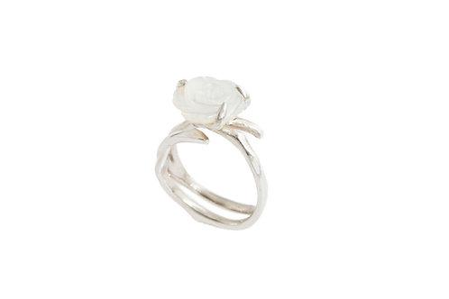 Pearl Flower branch ring