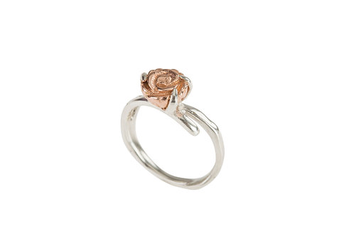 Yunnan Fine Flower Ring (rose gold plated)