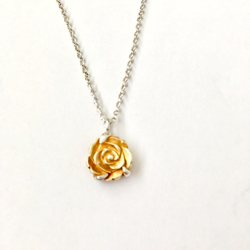 Gold Plated Flower Pendant