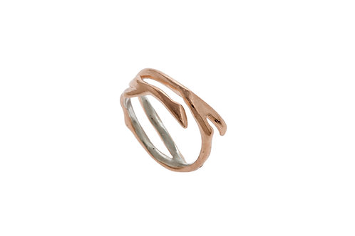 Yunnan Branch Ring - rose gold plated