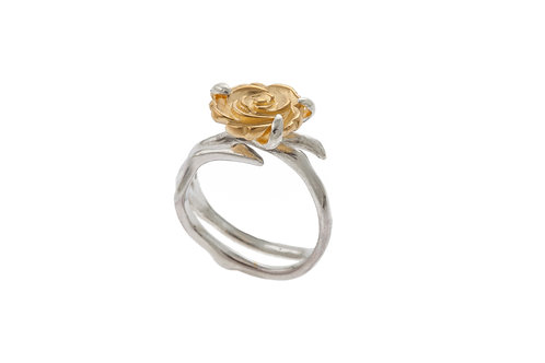 Yunnan Gold Plated Flower Ring