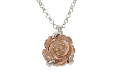 Rose gold plated Flower Pendant