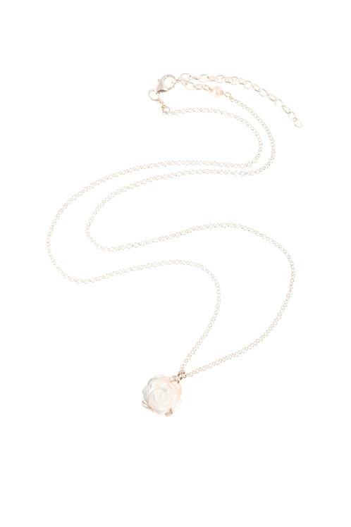Small White Pearl Flower pendant