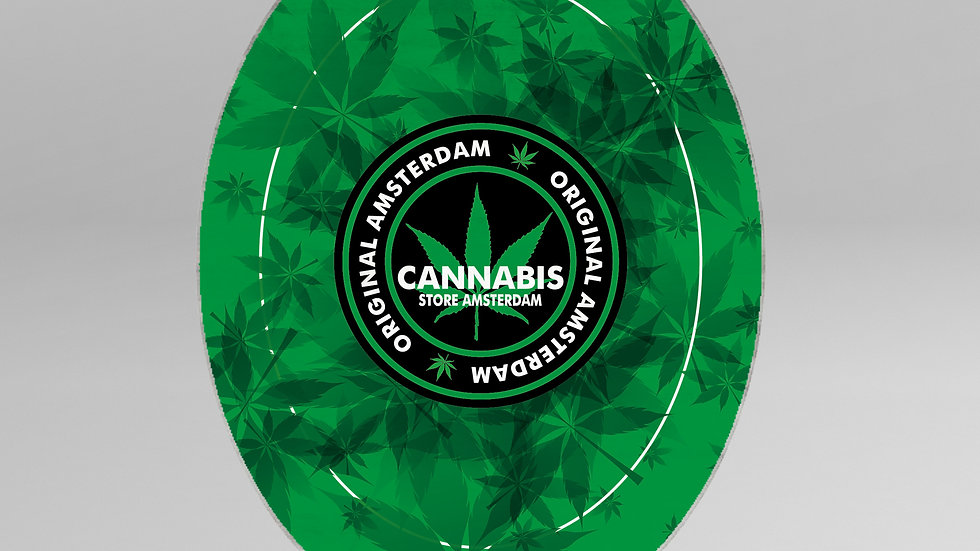 Tappeto Ovale Cannabis - TP002CB