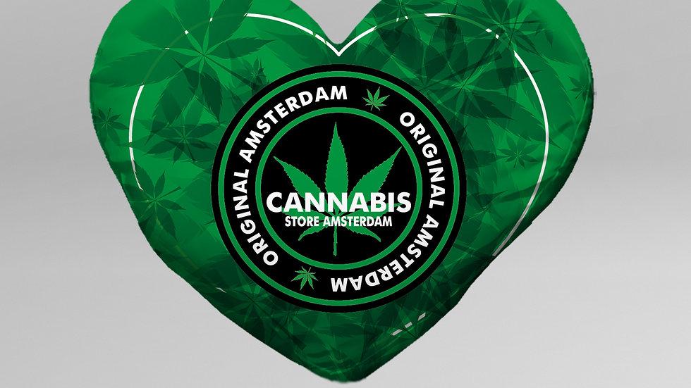 Cuscino Cuore Cannabis - CS003CB