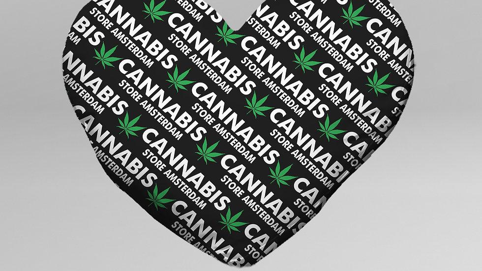 Cuscino Cuore Cannabis - CC002CB