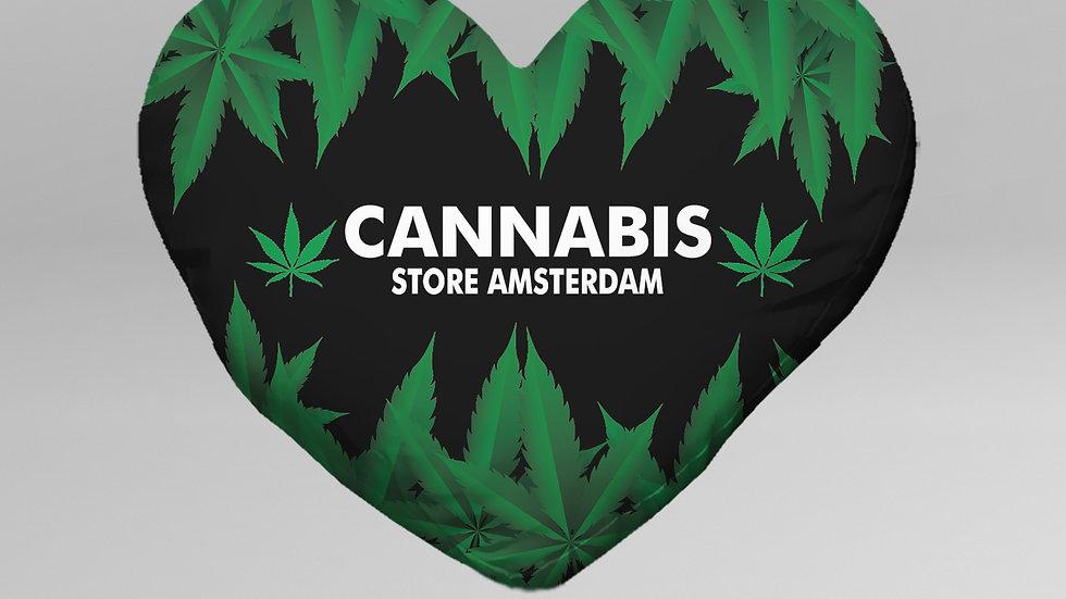 Cuscino Cuore Cannabis - CC004CB