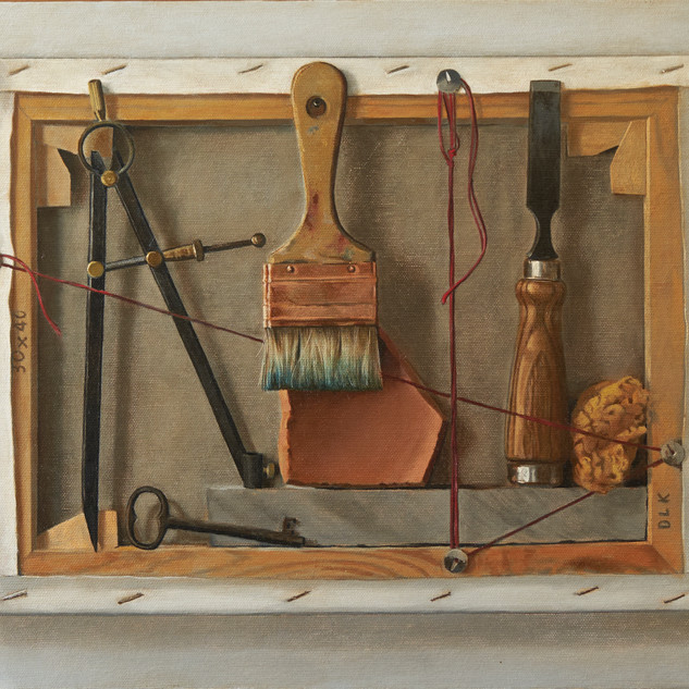Tools, 50x40, Oil on board