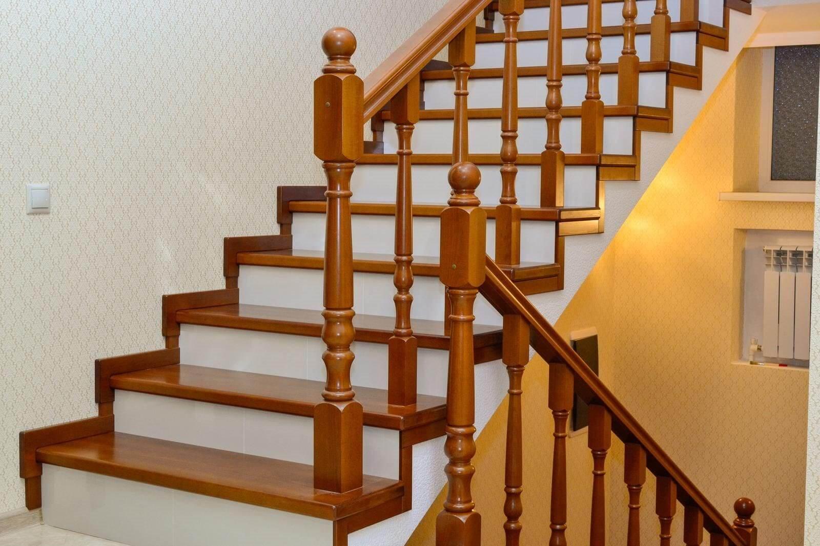 Облицовка бетонной лестницы буком