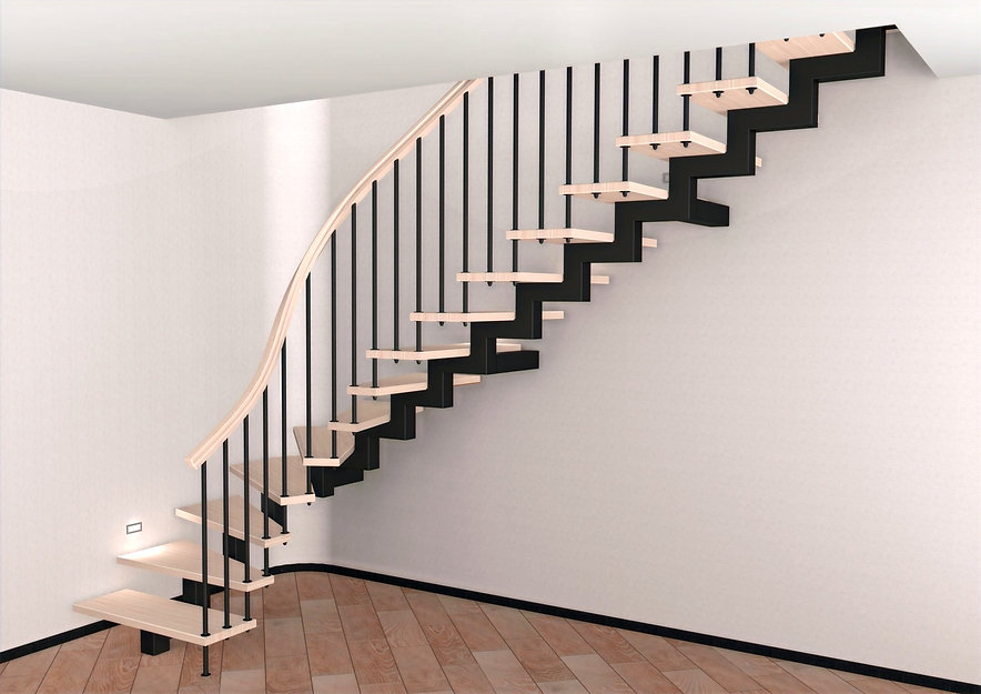 Металический центральны каркас лестницы
