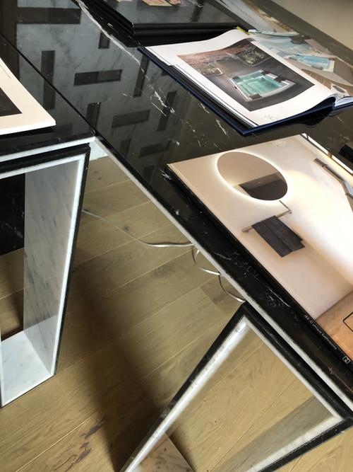 Tavolo in marmo a progetto