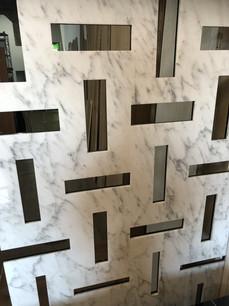 Quinta in marmo Bianco Gioia e Nero Marquinia