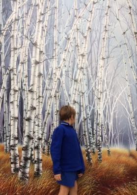 Warren Salter Art - Birch Trees