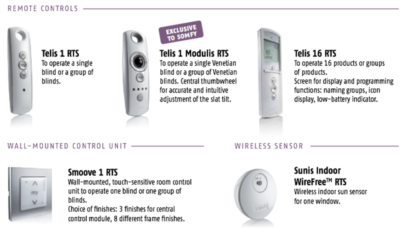 Somfy Remotes and accessories