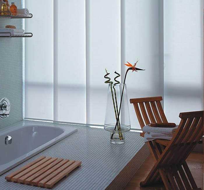 Sliding panel, Light filtering fabrics