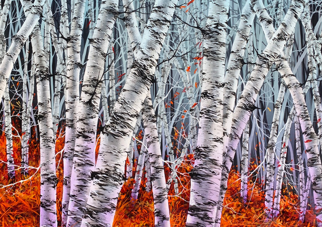 Warren Salter Art - Birch Trees