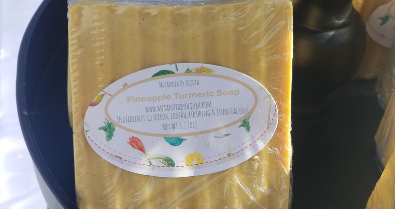 WholeSale Pineapple Turmeric Soap (50)