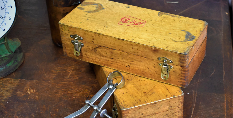 Vintage Wooden Eclipse Engineering Tool Box Case Dovetail Box  Pair