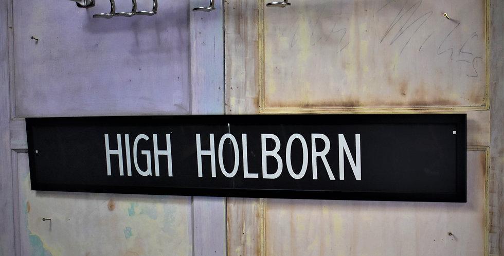 Vintage Original Bus Blind London Route Master High Holborn