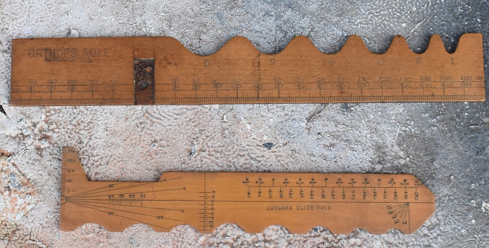 Antique Opticians Raphael's Ltd Facial Measuring Ruler Ophthalmology Boxwood