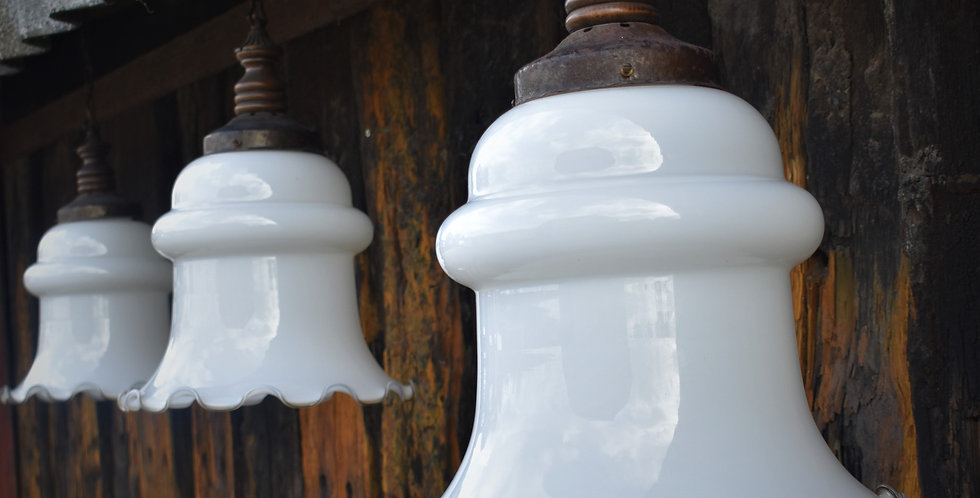 Antique Oversized Large Opaline Light Shades Downlight 3 Avail Price Per Light