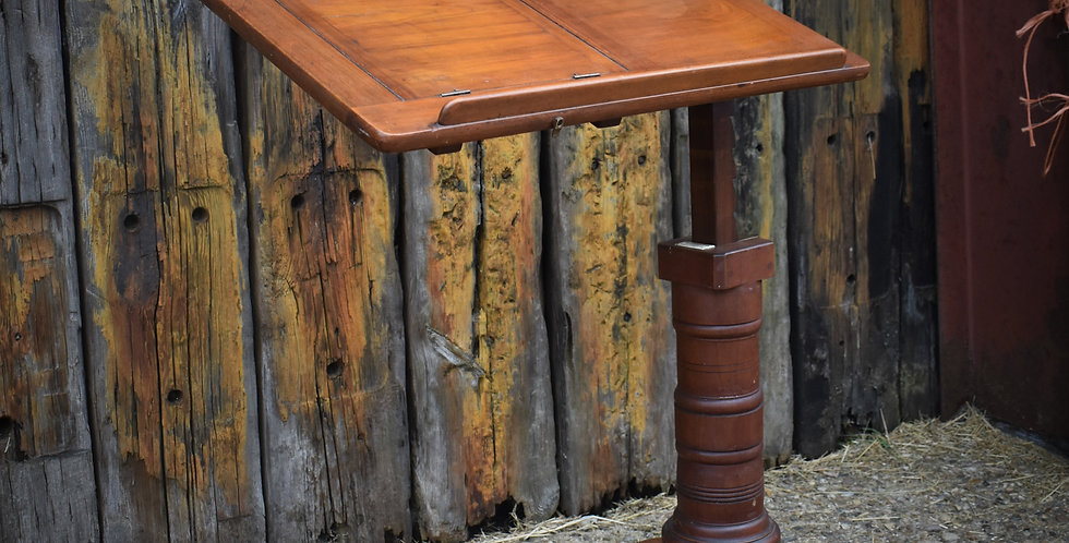Antique Mahogany Reading Table Leveson & Sons Victorian Library Lectern