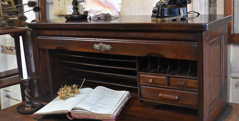 Antique Desk Derby Desk Inglesant and Sons Tambour Mahogany Home Office