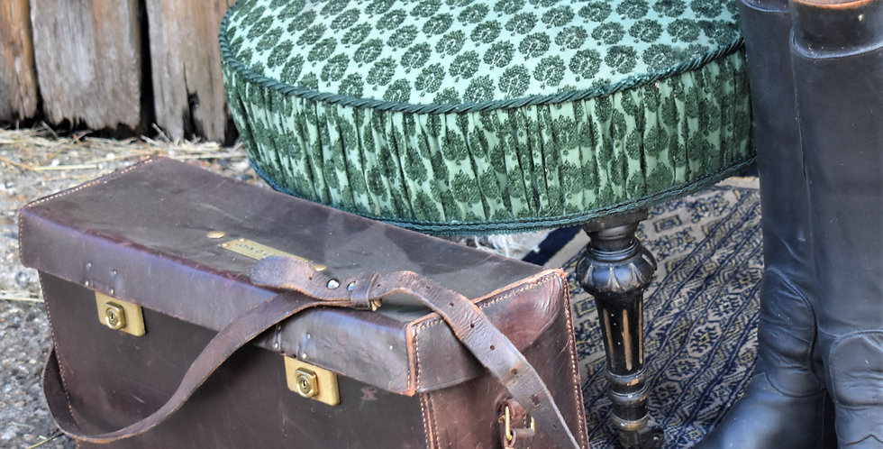 Antique Vintage Leather Shooting Hunting Case John Lawson Travel Suitcase Trunk