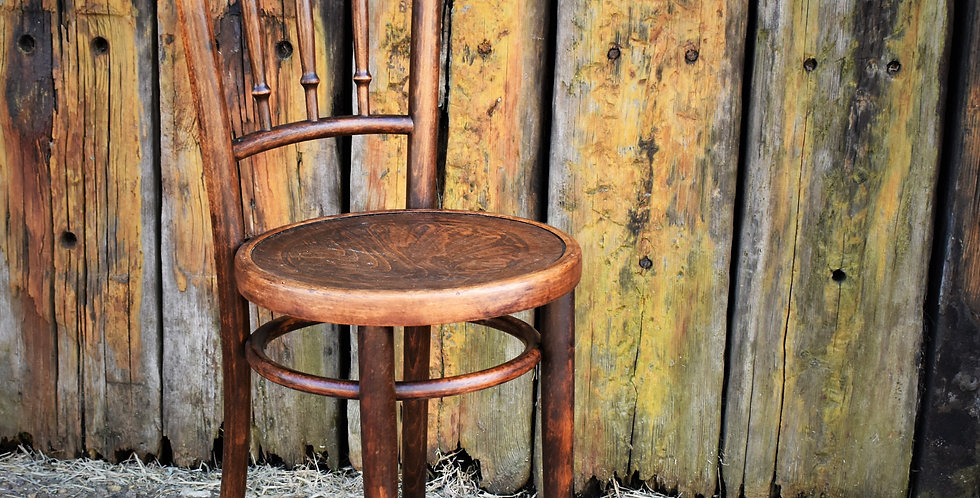 Antique Bentwood Cafe Chair Mundas Polish Thonet