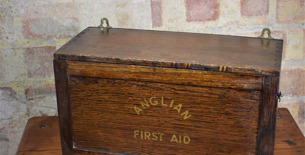 Antique Vintage 1938 WW2 Home Office Factory Depart First Aid Box with Contents