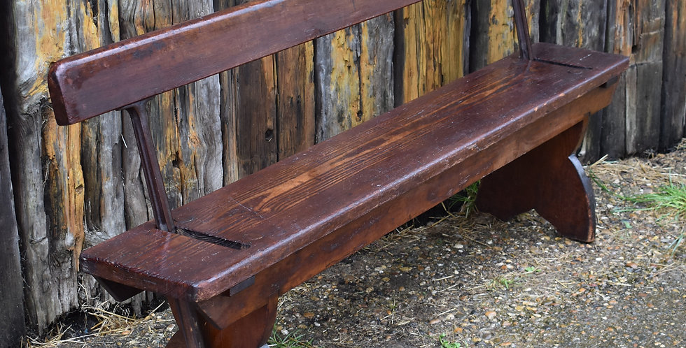 Antique Train Platform Bench Reversible Tram Seat Railway Double Sided 2 availab