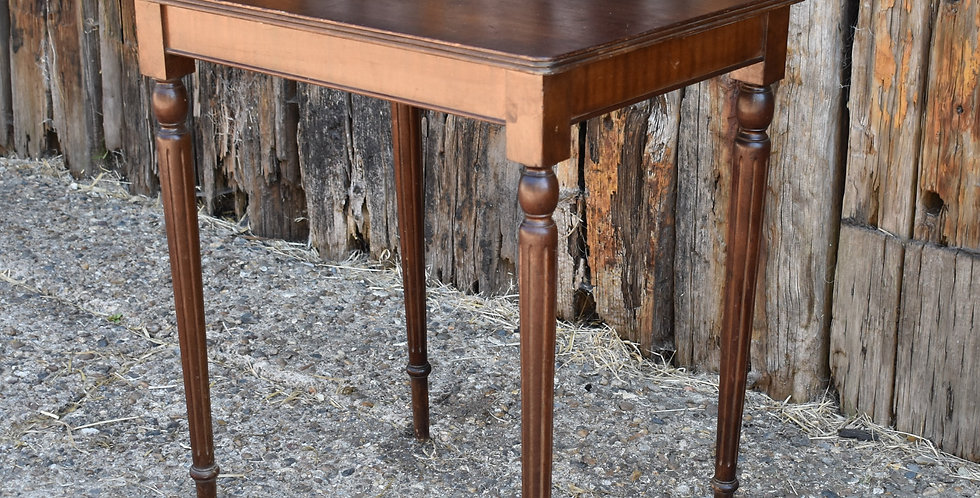 Regency Style 20th Century Side Table Fluted Legs Neoclassica