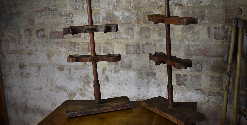 vintage props laboratory wooden clamps decorative 2 available