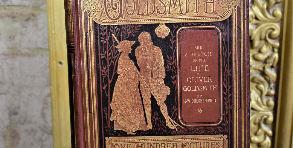 Here for sale is a great antique book titled 'Dalziel's Illustrated Goldsmith' b