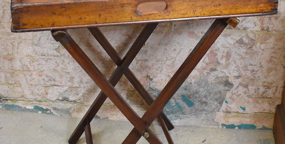 Antique 19th Century Butlers Tray Victorian Mahogany Sofa drinks table