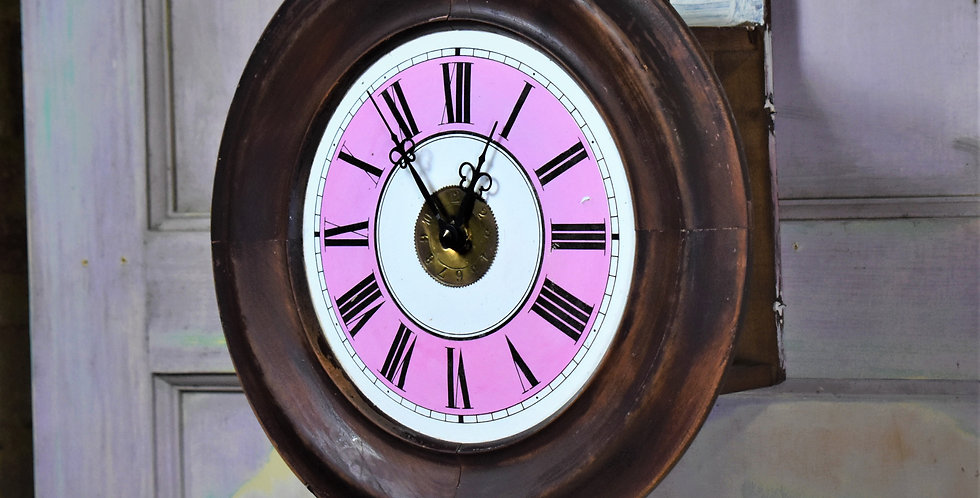 Antique 1910 GPO Clocks Quartz Lovejoy Wimbledon Enamel Post Office Wall Clock