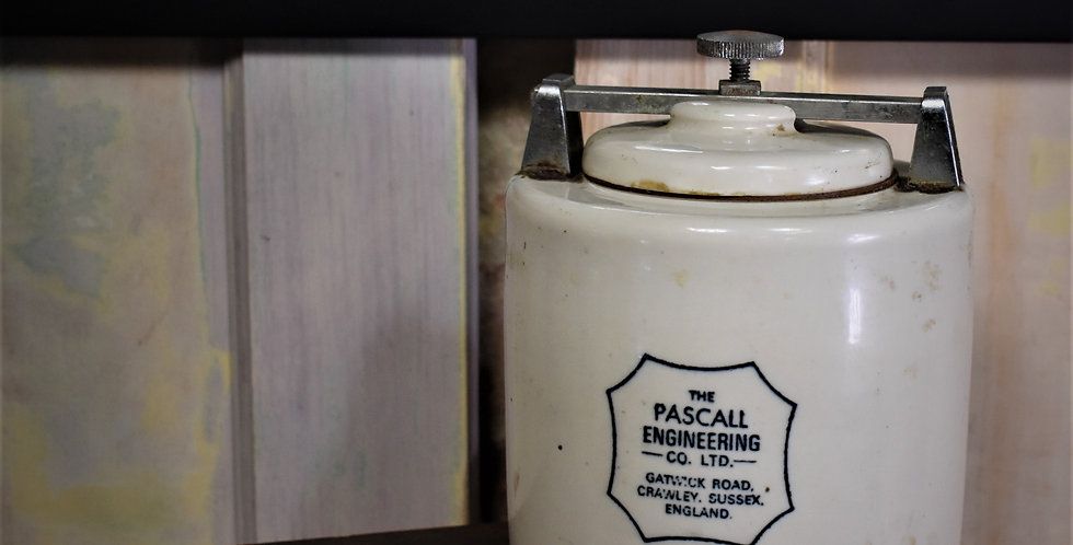 Vintage Pascall Engineering Co. Pottery Weight Scientific Device Sussex England