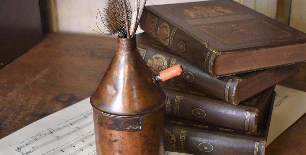 Antique Vintage Copper Chemist Laboratory Still Vessel Pot Vase Four Available