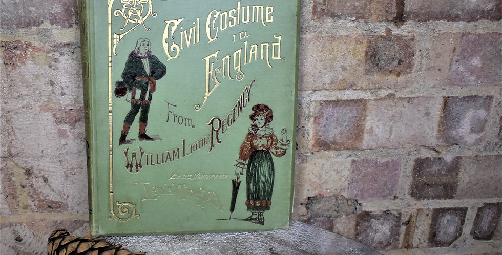 Antique 1884 Civil Costume In England Book Lewis Wingfield Colour Plates