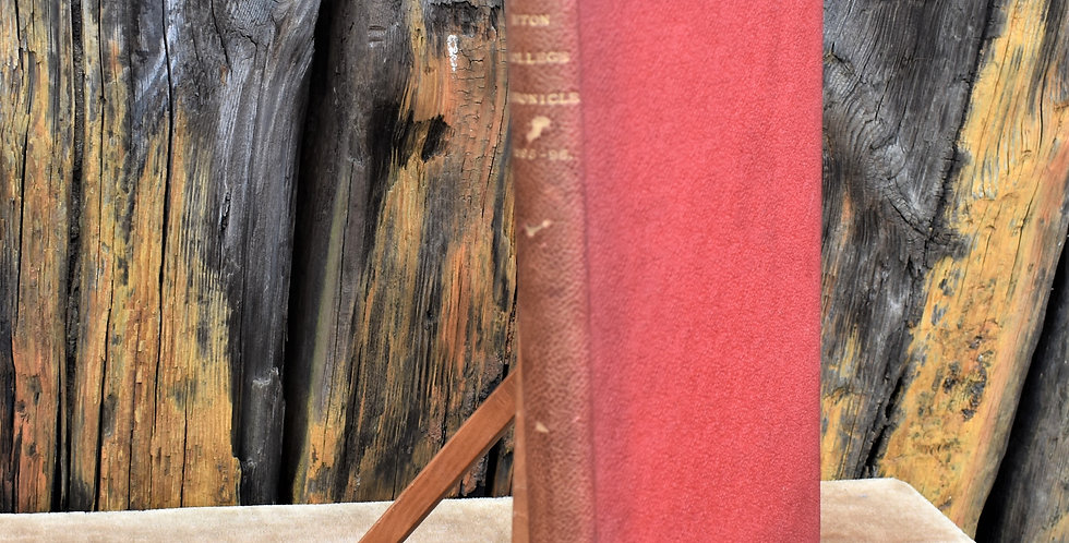 Antique 1895 -1896 Eton College Chronicle Book Red Cloth Binding Boarding School