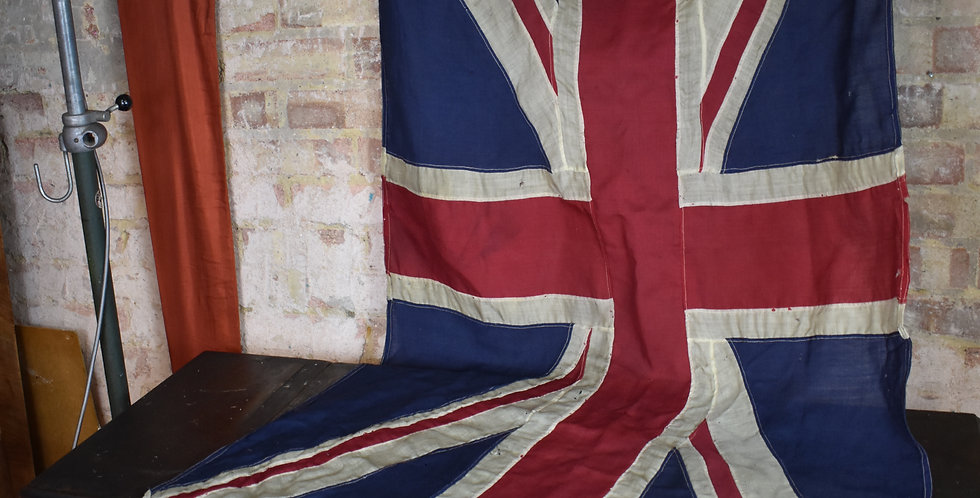 Vintage union jack flag very large hand stitched very large