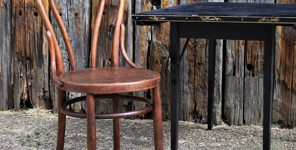 Antique Bistro Bentwood Chair Cafe Chair Peacock Embossed Seat Thonet Style
