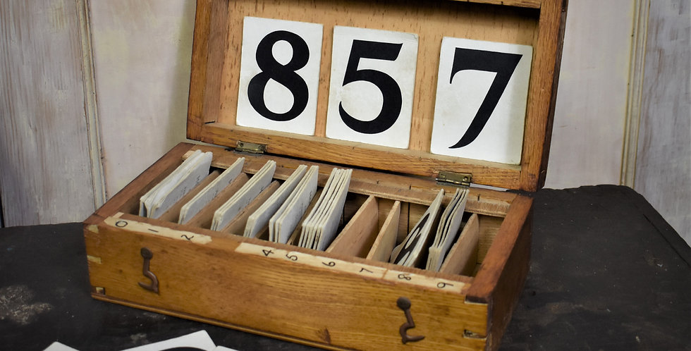 Antique Vintage Church Hymn Numbers Shop Display Price Tags Made By Mowbrays
