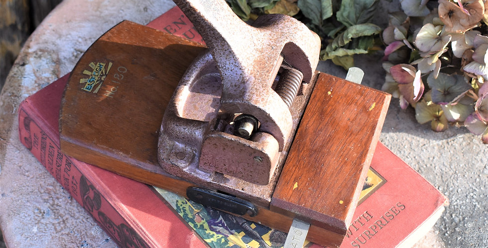 Vintage East-Light Metal Hole Punch Number 180 Desk Toy Book Rest