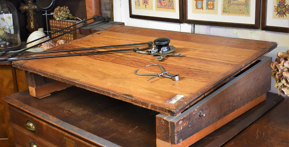 Antique Draughtsman Table Drawing Board I W Smith
