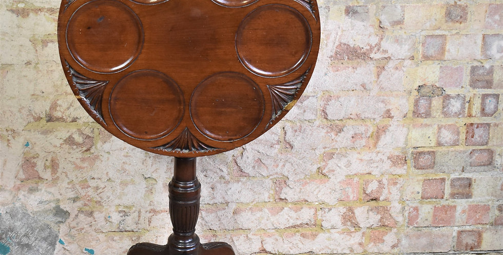 Antique English Table 19th Century Supper Table Occasional Tilt Top Mahogany