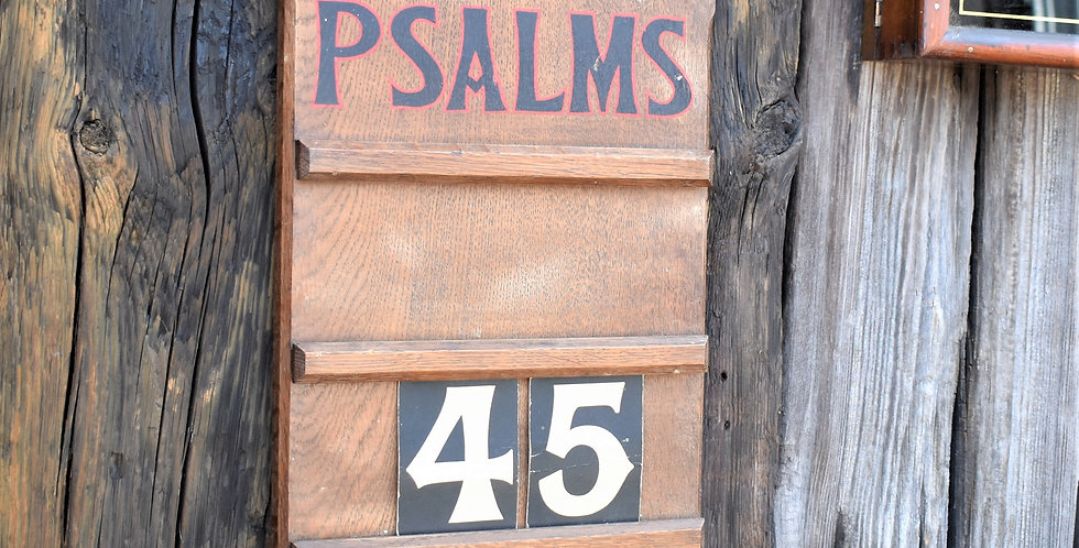Antique Psalm Numbers Oak Board Chapel Church Notice Board